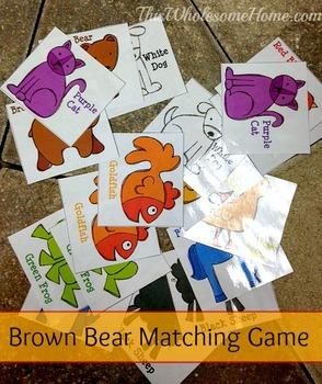 Brown Bear Brown Bear Eric Carle Matching Game