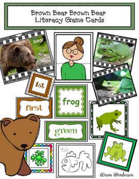 Brown Bear Brown Bear Literacy Game Cards
