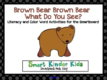 Brown Bear Brown Bear Literacy and Color Activities for th
