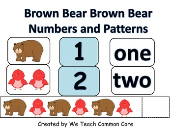 Brown Bear Brown Bear Numbers and Patterns Math Center Activity
