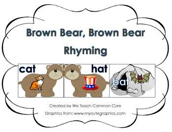 Brown Bear Brown Bear Rhyming Literacy Center Activity