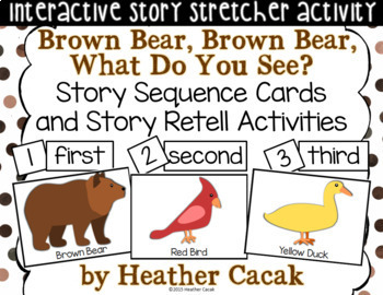 Brown Bear, Brown Bear Story Sequence and Retelling Cards