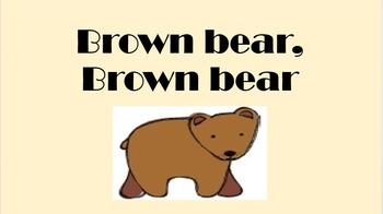 Brown Bear, Brown Bear What Do You See Reader's Theater &