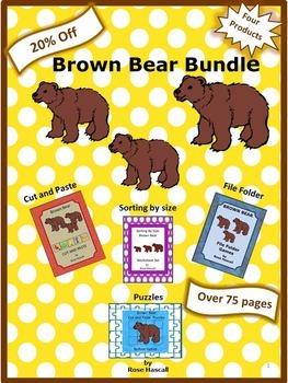 Brown Bear Math and Literacy Centers NO PREP/LOW PREP Bundle