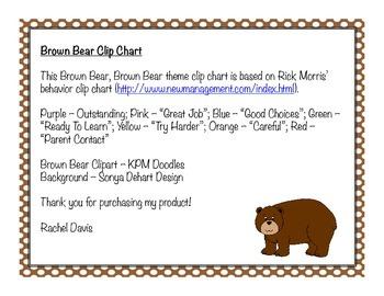 Brown Bear Clip Chart