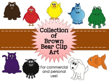 Brown Bear Clipart Collection for Commercial and Personal Use
