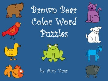 Brown Bear Color Word Puzzles