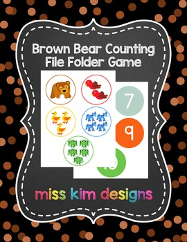 Brown Bear Counting File Folder Game for students with Autism