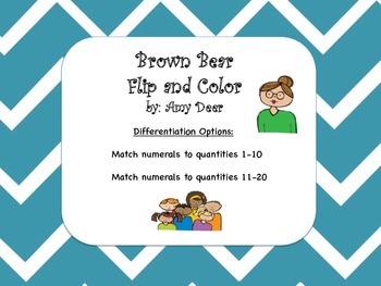Brown Bear Flip and Color Tens Frames