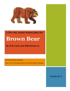 Brown Bear Music Lessons