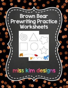 Brown Bear Prewriting Worksheets