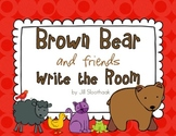 Brown Bear and friends Write the Room (8 color words)