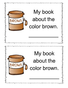 Brown Color Book