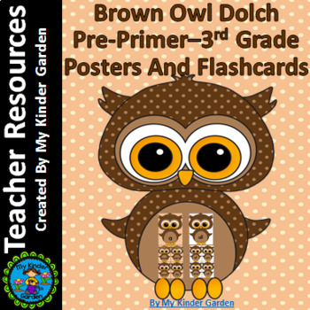 Brown Owl Dolch PrePrimer-3rd Grade Sight Word Flashcards