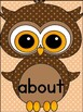 Brown Owl  Dolch Third Grade Sight Word Flashcards and Posters
