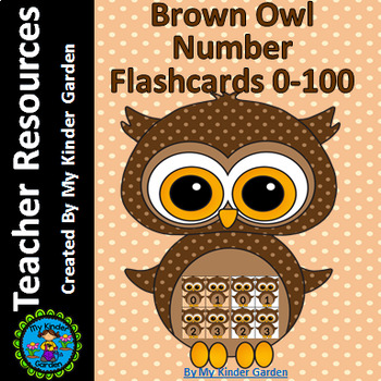 Brown Owl Number Flashcards 0-100