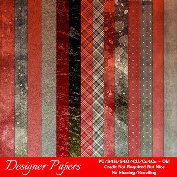 Brown Red Colors Digital Papers Package 2
