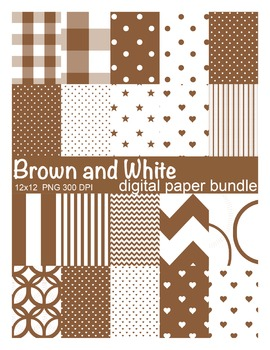 Brown and White Digital Paper