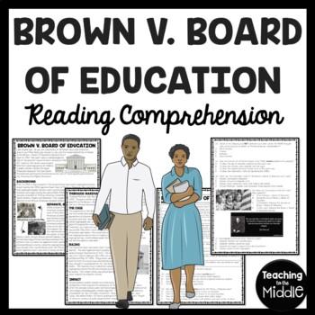 Brown v. Board of Education Reading Comprehension Workshee