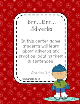 Brr...Brr...Adverbs Winter Center for Grades 3-5