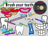 Brush Your Teeth {TeacherToTeacher Clipart} Hygiene clipart