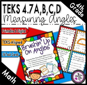 Brushin' Up on Angles: New Math TEKS 4.7a,b,c,e and CCSS: