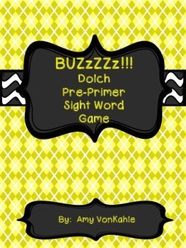 BuZzzZ!  Pre-Primer Sight Word Game