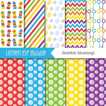Bubble Blowing-Digital Paper (LES.DP43A)