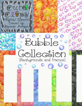 Bubble Backgrounds and Frames Collection [Cute Clips Digit