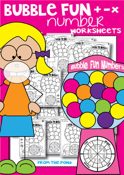 Number Play Worksheets - Bubble Fun - No Prep