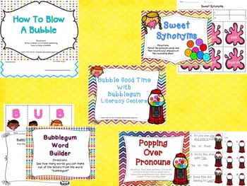 Bubble Good Time with Bubblegum Literacy Stations