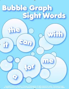 Bubble Graph Kindergarten  sight Words  FREEBIE in preview!