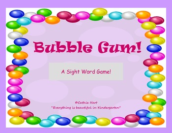 Bubble Gum!  A Primer Sight Word Game!