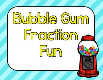 Bubble Gum Fraction Fun-Sorting, Bump Games, QR Codes