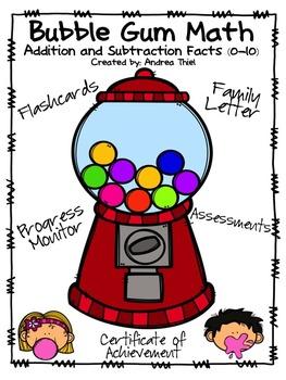 Bubble Gum Math Bundle: Addition and Subtraction Facts (0-10)