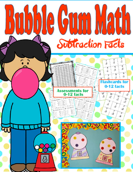 Bubble Gum Math Subtraction