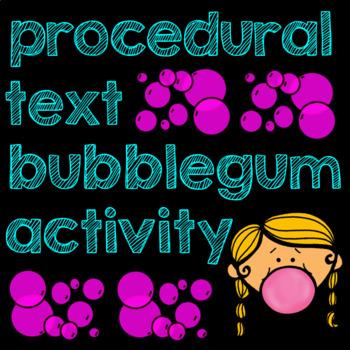 Bubble Gum Procedural Text Activity