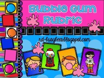 Bubble Gum Rubric and Bubble Gum Rubric Bulletin Board Set