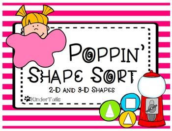 Bubble Gum Shape Sort {2-D and 3-D}