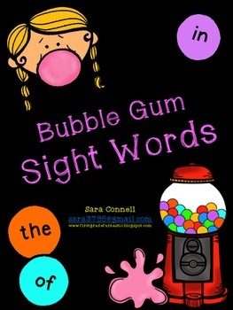 Bubble Gum Sight Words