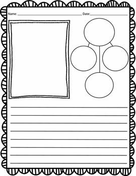 Bubble Map Writing Paper