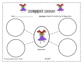 Bubble Map for Meggie Moon 1st Grade ELA Unit 2 Task 2