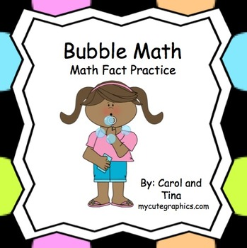 """Math Fact Practice with """"Bubble Math"""" (Fast and Fun)"""