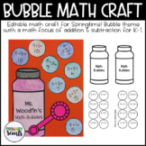 Bubble Math Craft