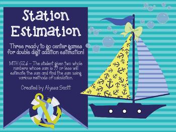 Addition Estimation Math Center Games
