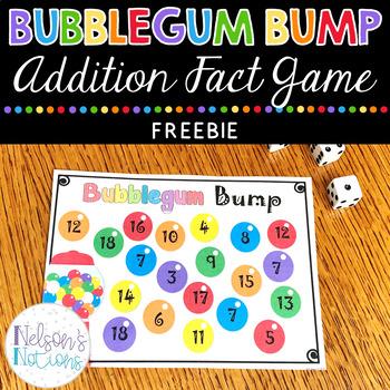 Bubblegum Bump {Freebie} Math Addition Game