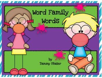 Bubblegum Word Family Pop