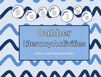 Bubbles Bingo Dabber Letter Activity - Alphabetical