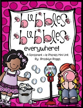 Bubbles Bubbles Everywhere - Consonant + le Phonics Mini U