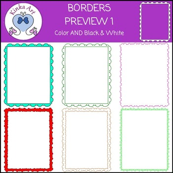 Bubbles Squiggles & Zigzag Borders